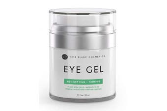 Eye Gel for Dark Circles by Kate Blanc. Reduce Appearance of Puffiness, Wrinkles, Crow's Feet and Bags. Effective Age-Defying & Anti-Ageing Serum and Cream for Under and Around Eyes. 1-Year Guaranteed.