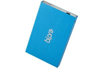 (Blue, 200GB) - BIPRA 200Gb 200 GB 2.5 External Hard Drive - Blue - FAT32