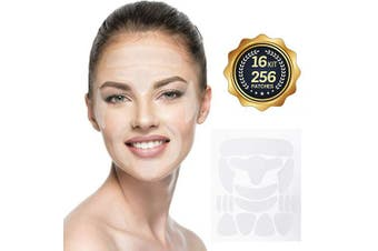 Facial Wrinkle Patches Anti-Wrinkle Remover, Forehead Wrinkle patches, Eye Wrinkle, Around Mouth & Upper Lip Wrinkle Treatment Reusable Smoothing Wrinkle Patches,16 Kit 256 Patches Face Lift Tape