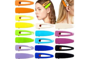 18PCS Acrylic Resin Hair Barrettes Gold Duckbill Totoise Clips Fashion Geometric Alligator Hair Clips for Women and Youngster Ladies Hair Accessories