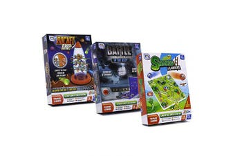 (Battle in the Deep - Snakes & Ladders - Rocket Dro) - Set of 3 Travel games for all the Family - Travel Games for Kids (Battle in the Deep - Snakes & Ladders - Rocket Drop)