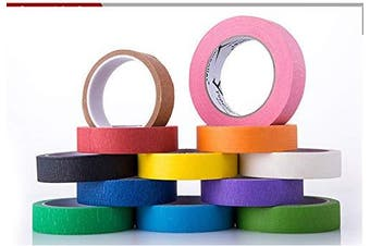 Faxco 8 Rolls Coloured Painters Tape Set, Bright Coloured Art Tapes, Colourful Decorative Tapes for DIY, Gift Wrapping, Kids Crafts