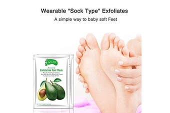 Avocado Exfoliating Foot Peel Mask Exfoliant for Soft Feet in 1-2 Weeks Peeling Off Calluses Dead Skin For Men Women 3 Pairs (3pair)