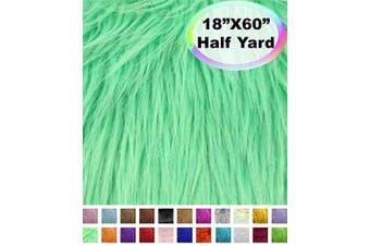 (Half Yard, Mint) - Barcelonetta | Half Yard Faux Fur | 46cm X 150cm Inch | Craft Supply, Costume, Decoration (Mint)