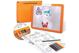 (Illuminated Tracing Tablet) - Discovery Kids LED Illuminated Tracing Tablet, 34 Piece Set with Pencils, Paper & Templates