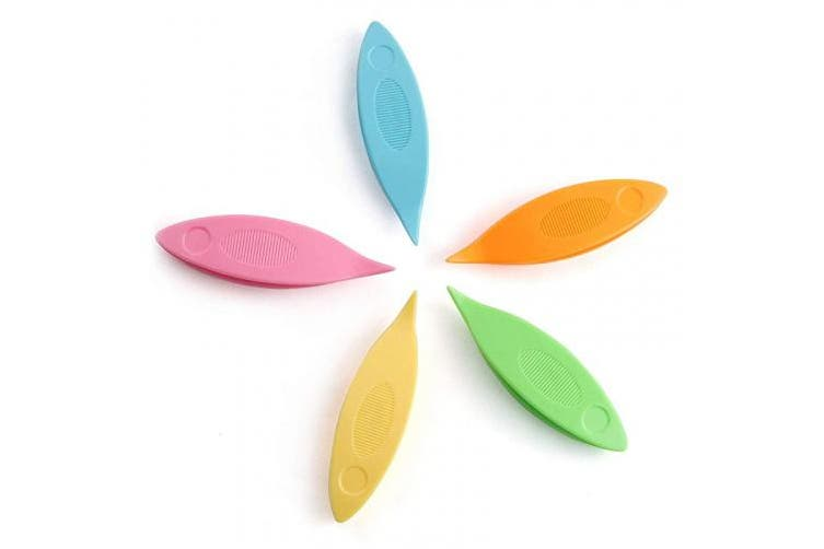 NX Garden Tatting Shuttles Set 5 PCS Colourful Plastic Tatting Shuttles for Lace DIY Hand Lacemaking Craft Tool