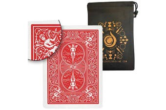(Red) - Ultimate Marked Deck - Bicycle Rider Back Cards with Cascade Card Bag (Red)