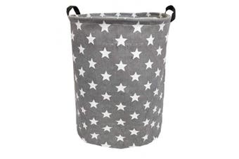 (Stars) - Sanjiaofen 50cm Large Laundry Hamper Bucket Waterproof Coating Storage Bin Collapsible Washing Basket Home Nursery Toy Organiser,Canvas Storage Basket with Stylish Design(Stars)