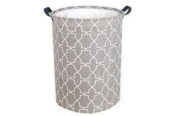 (Grey Polygon) - Sanjiaofen 50cm Large Laundry Hamper Bucket Waterproof Coating Storage Bin Collapsible Washing Basket Home Nursery Toy Organiser,Canvas Storage Basket with Stylish Design(Grey Polygon)