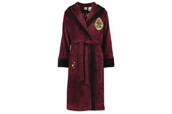 (Burgundy, X Large) - Harry Potter Women's Robe