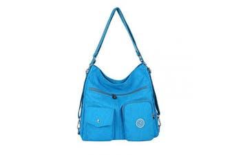 (Lightblue) - NOTAG Women Nylon Crossbody Bag, Waterproof Multi-Pocket Shoulder Bag 3 Ways Carrying Large Capacity Handbag