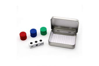 Annietfr Left Right Centre Dice Game Set with 3 Dices + 36 Pcs Colourful Chips