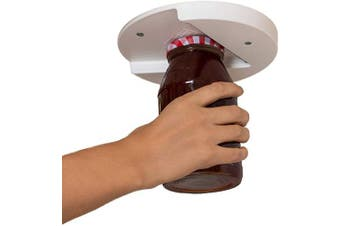 The Grip Jar Opener: The Original, Hidden-Under-Cabinet Lid Opener, Since 1977, Opens Any Size and Type of Lid Effortlessly.