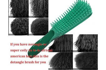 (Green) - Detangling Brush for Natural Hair-Detangler for Afro Textured 3a to 4c Kinky Wavy, Detangle Easily with Wet, Coily Hair, Dry, Curly,Conditioner, Improve Hair Texture-Easy Clean (Green)