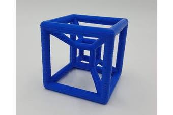 Hypercube - 3D Printed Tesseract (Blue)