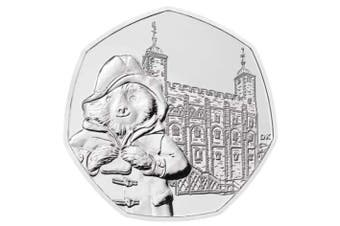 50p 620mPaddington bear at the Tower of London coin - taken from a bag of uncirculated coins