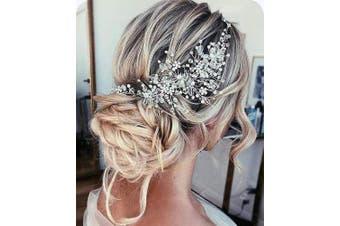 Anglacesmade Bridal Crystal Headband Rhinestone Hair Vine with Marquise for Birde Bridesmaid Wedding Hair Piece for Women and Girls
