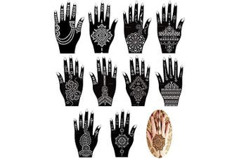 Xmasir Set of 16 Sheets Indian Arabian Henna Tattoo Stencil/Temporary Tattoo Temples Kit,Stencils For Henna New Designs