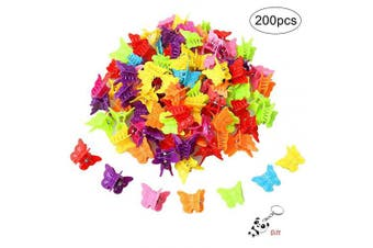 nuoshen 100 Pieces Butterfly Hair Clips, Assorted Colour Mini Jaw Clip Claw Barrettes Hair Accessories for Women and Girls