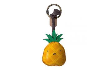 (Pineapple-pt050) - 3XU Pineapple Leather Toy, Cute Leather Charm, Lovely Keychain, Unique Accessories