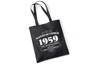 (Black) - 60th Birthday Gifts for Women Men Manufactured 1959 Funny Tote Bags Present