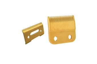professional clipper blades 2 hole bladeclipper replacement blades with Gold steel blade for Wahl Senior cordless Clipper, wahl sterling senior (Double Gold Blade)