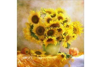 (30*30, Sunflower in Bottle) - Diamond Painting Kits for Adults Kids, 5D DIY Sunflower Diamond Art Accessories with Round Full Drill Dotz for Home Wall Decor - 11.8×30cm
