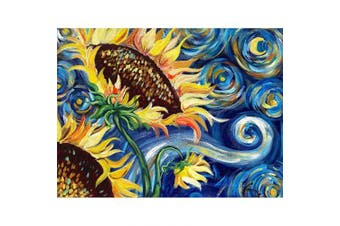 (40*30, Abstract Sunflower) - Diamond Painting Kits for Adults Kids, 5D DIY Abstract Sunflower Diamond Art Accessories with Round Full Drill Dotz for Home Wall Decor - 15.7×30cm