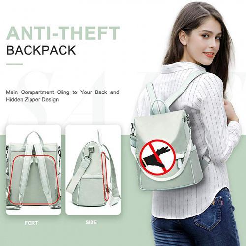 Vorname Women Travel Backpack Anti Theft Rucksack Nylon Waterproof Daypack Lightweight School Shoulder Bags