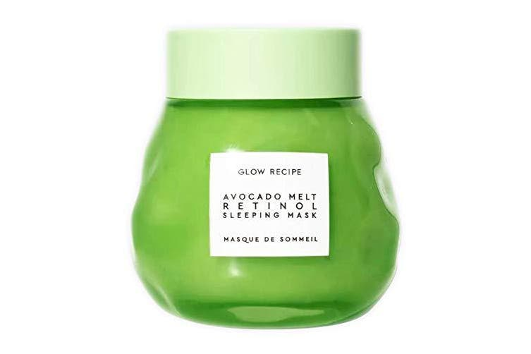Glow Recipe Avocado Melt Retinol Sleeping Mask 70ml! Formulated With Avocado, Encapsulated Retinol And PHA! Help Nourish And Calm Skin! Vegan, Parabens-Free And Cruelty-Free!