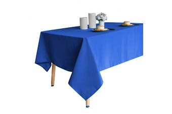 (150cm  x 260cm , Royal Blue) - Obstal 210GSM Rectangle Table Cloth, Water Resistance Microfiber Tablecloth, Decorative Fabric Table Cover for Outdoor and Indoor Use (Royal Blue, 150cm x 260cm )