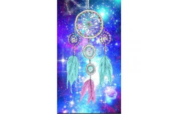(30*40, Colored Dream Catcher) - Diamond Painting Kits for Adults Kids, 5D DIY Coloured Dream Catcher Diamond Art Accessories with Round Full Drill Dotz for Home Wall Decor - 11.8×40cm