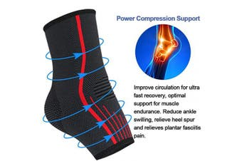 (Large) - Beister 1 Pair Ankle Brace Compression Support Sleeve for Women and Men, Elastic Sprain Plantar Fasciitis Foot Socks for Injury Recovery, Joint Pain, Achilles Tendon, Heel Spurs