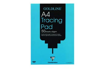 Clairefontaine Goldline Popular Tracing Pad, A4, 63 gsm, 50 Sheets