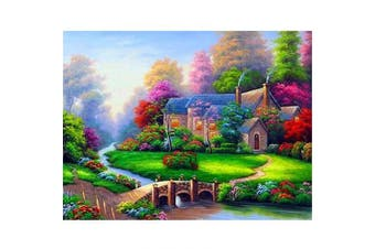 (40*30, Fairy Tale Cottage) - Diamond Painting Kits for Adults Kids, 5D DIY Fairy Tale Cottage Diamond Art Accessories with Round Full Drill Dotz for Home Wall Decor - 15.7×30cm
