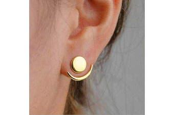 Chargances Women Moon Earrings Delicate Crescent Moon Jewellery Geometric Earrings Dangly Boho Celestial Gift for Women Moon Jewellery for Women and Girls (Gold)