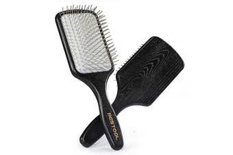 (Paddle) - BESTOOL Hair Brush-Paddle Detangler Brush with Metal Bristles for Women/Men/Kids Detangling & Massaging, Anti Static, Best for All Wet & Dry Hair DailyUse (Paddle)