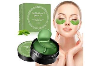 Under Eye Mask, Collagen Eye Mask, Eye Gel Pads, Green Tea Under Eye Patches, Firming Eye Mask, 60PCS Collagen Eye Patches for Eye Moisturising, Dark Circles, Wrinkles, Fine Lines, Under Eye Bags