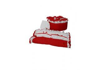 (Red) - Baby Doll Bedding Regal Cradle Bedding Set, Red