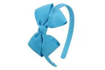 (Turquoise) - 7Rainbows Fashion Cute Turquoise Bow Headband for Girls Toddlers.
