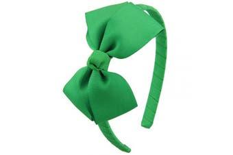 (Emerald Green) - 7Rainbows Cute Emerald Green Bow Headband for Girls Toddlers.