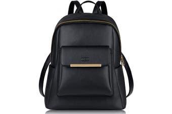 (Black) - Women Backpack, COOFIT Leather Backpack Women Ladies Rucksack School Bags Backpacks for Women Girls