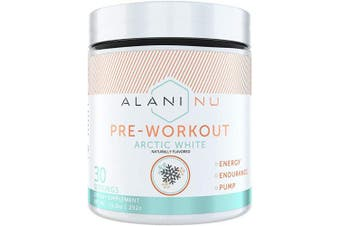 (Arctic White) - Alani Nu Pre-Workout Supplement Powder for Energy, Endurance, and Pump, Arctic White, 30 Servings