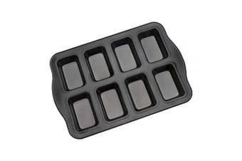Brownie Pan, Beasea Nonstick Mini Loaf Pan, 8 Cavity Brownie Cake Pan Carbon Steel Brownie Baking Tray Bakeware for Oven Baking
