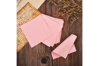 (pink) - SEVENWELL Jewellery Cleaning Cloth 50pcs Pink Polishing Cloth for Sterling Silver Gold Platinum Small Polish Cloth 8x8mm