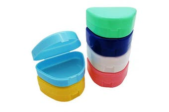 (Yellow) - AIWAYING Mouth Guard Case, Orthodontic Dental Retainer Box