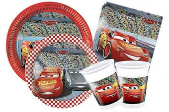 (24 persone, Cars 3) - Ciao Y4324 Party in-Cars 3 Kit Red