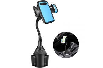 (Blue) - Cup Holder Phone Mount, FishOaky Universal Adjustable Cup Mount Phone Holder Compatible with iPhone Xs XR 8 8plus 7 7Plus Samsung Galaxy S9 S9+ Note 9 S8 S7, All Phones Width 5.3cm - 9.9cm