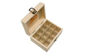 (Holds 12) - Essential Oils Wooden Box - Quality Storage Case For Aromatherapy (Holds 12)