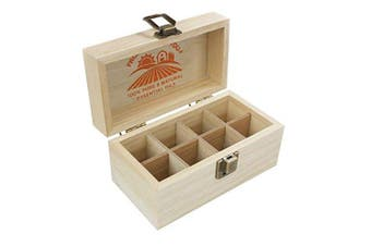 (Holds 8) - Essential Oils Wooden Box - Quality Storage Case For Aromatherapy (Holds 8)